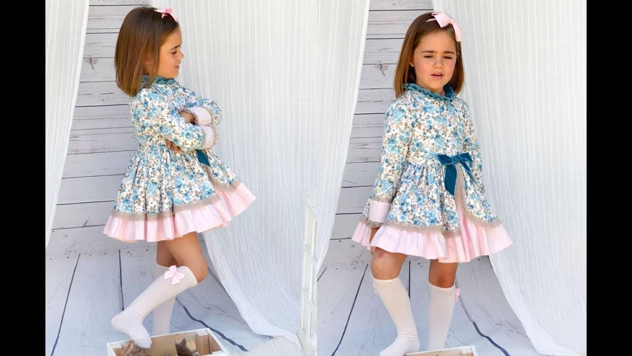 Realiza tu misma un Vestido Romántico de niña. Patrones infantiles.