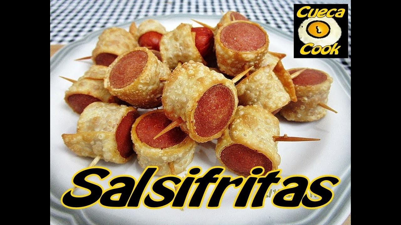 Salsifritas  (salsicha enrolada na massa de pastel) - Cueca Cook # 109