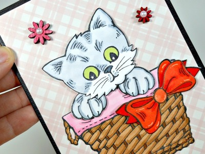 Tarjeta San Valentín | Pop Up Kitties Card | Cardmaking