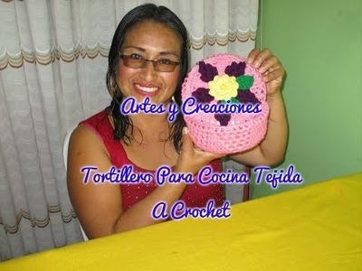 TORTILLERO DE COCINA TEJIDO A CROCHET