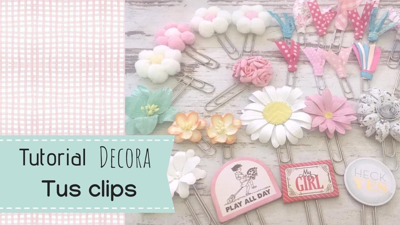 Tutoral clips decorados para scrapbooking