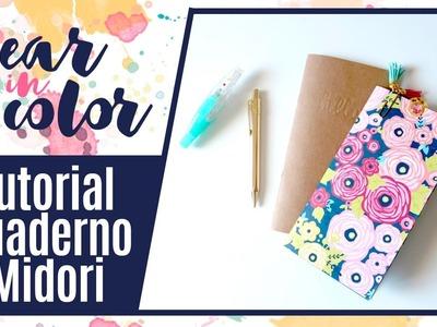 Tutorial cómo hacer un cuaderno para tu Midori - Year in color