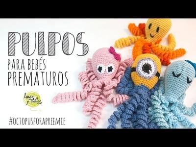 Tutorial Pulpo para Bebés Prematuros Amigurumi (Octopus for a preemie)