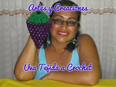 UVA TEJIDA A CROCHET PARA ADORNO DE COCINA