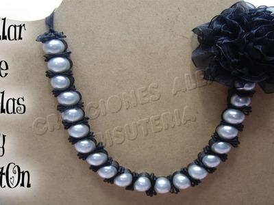 Bisuteria collar de perlas y liston.       ((#13))