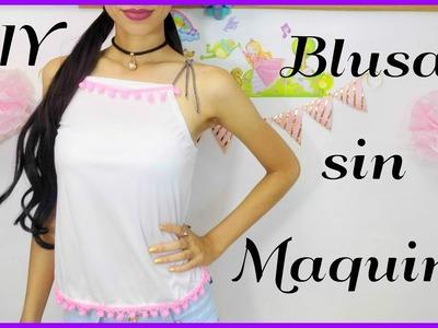 Blusa sin maquina de coser   ♥L.C.M ♥