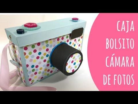 Caja de cartón-bolsito cámara de fotos. TUTORIAL