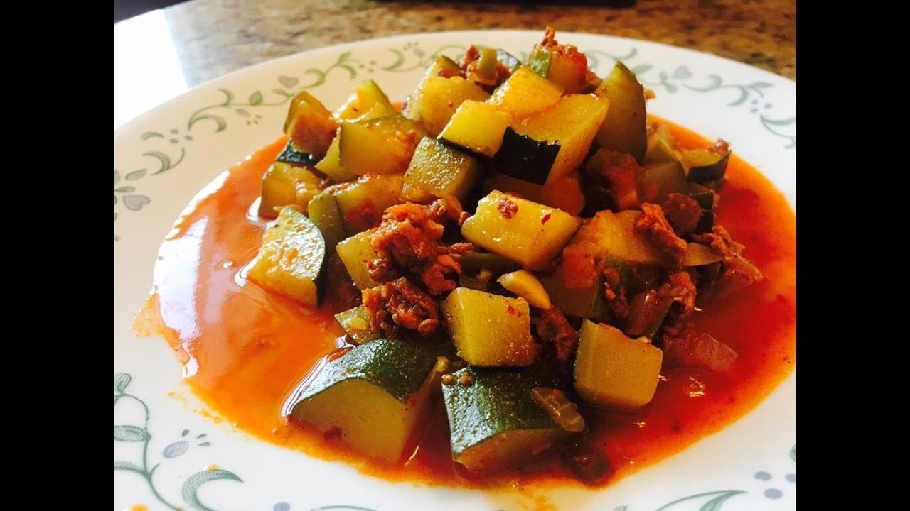 Calabazitas y Chorizo a la Mexicana