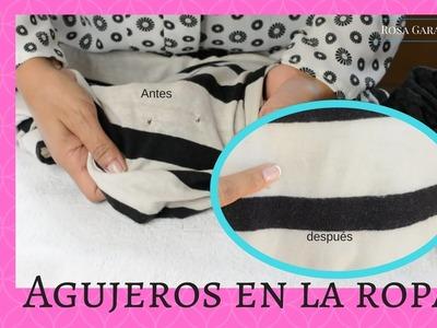 Cómo arreglar una blusa con agujeros