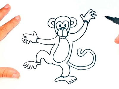 Cómo dibujar un Mono para niños | Dibujo de Mono paso a paso