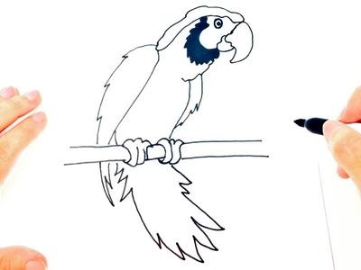 Cómo dibujar una Cacatúa paso a paso | Dibujo fácil de Cacatúa