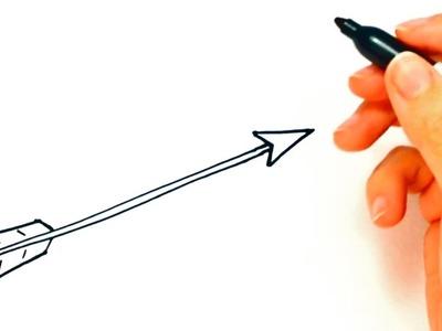 Cómo dibujar una Flecha paso a paso   Dibujo fácil de Flecha