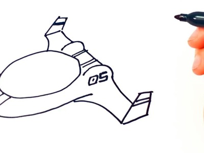 Cómo dibujar una Nave Espacial paso a paso | Dibujo fácil de Nave Espacial