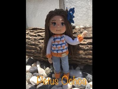 Como tejer piernas muñeca Paola amigurumi By Petus PRIMERA PARTE 1.7