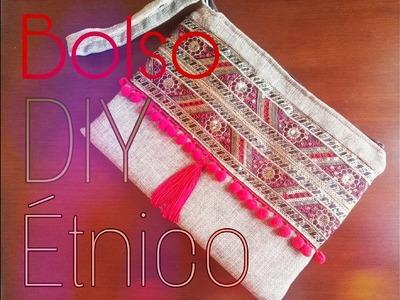 DIY!!como hacer un bolso étnico fácil y rápido paso a paso.