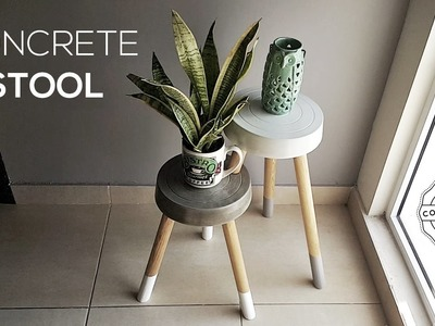 DIY Concrete Stool | Banco de Concreto
