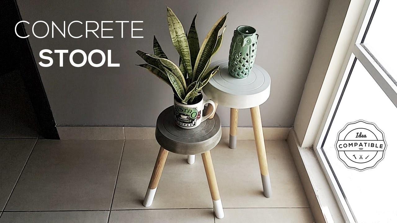 DIY Concrete Stool   Banco de Concreto
