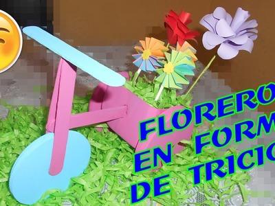 DIY- FLORERO CON FORMA DE TRICICLO