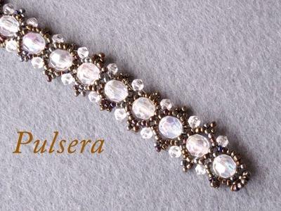 # DIY - Pulsera de perlas acrilicas mostacillas y tupis