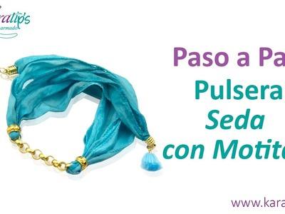 DIY Pulsera de Seda con Motitas - Karatips