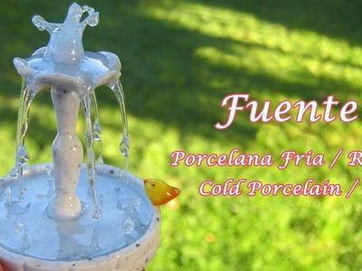 Fuente en Porcelana Fria - Resina. Cold Porcelain - Resin