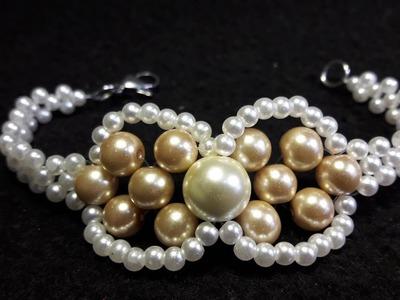 Hermosa y Creativa Pulsera con Perlas. Clase #53!!!