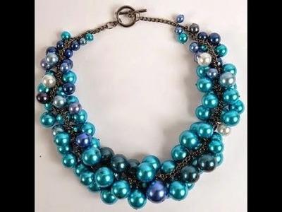 Manualidad: Collar en Perlas Azules - Hogar Tv  por Juan Gonzalo Angel