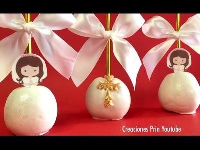 Manzanas para Comunión, Confirmación o Bautizo con chocolate