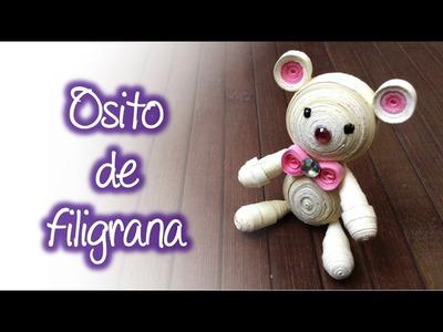 Osito de filigrana, Quilling teddy bear