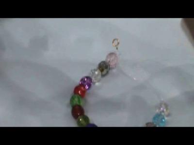 Pulsera de bolas de cristal