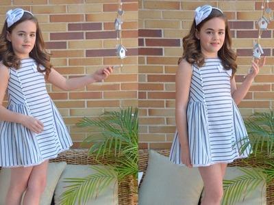 Vestido de rayas. Revista patrones infantiles n º 4
