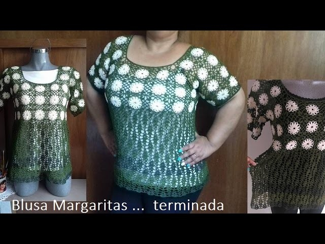 Blusa Margaritas (terminada)