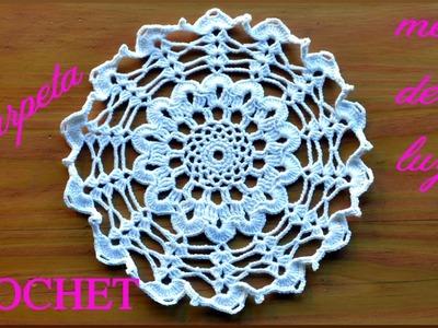 CARPETA a #crochet o ganchillo para Mesa de Luz tutorial paso a paso. Moda a Crochet
