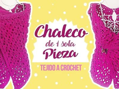 CHALECO TEJIDO A CROCHET EN UNA SOLA PIEZA | Canela♥