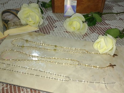 Como hacer un rosario de silicón MDulceCreación