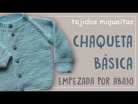 Cómo hacer una chaqueta básica empezada desde abajo (Subtitles)