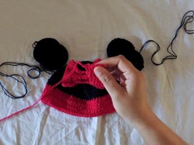 COMO TEJER FACIL UN GORRITO DE BEBE - Minnie Mouse