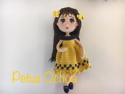Como tejer piernas, manos y zapatos muñeca Romina By Petus PRIMERA PARTE