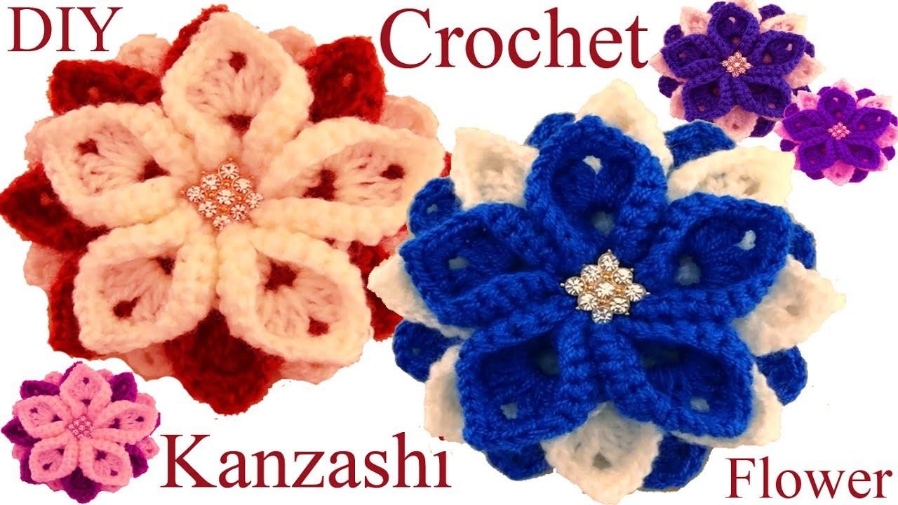 Como tejer una flor a Ganchillo Crochet tutorial paso a paso