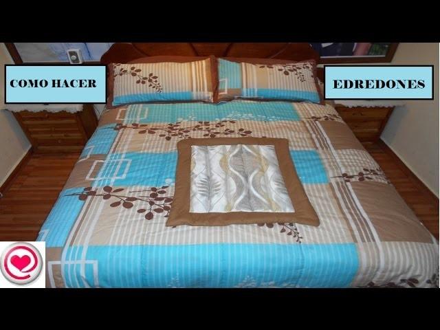 Costura- Como hacer edredones o cobertores de cama en pocos pasos- Todo en Uno