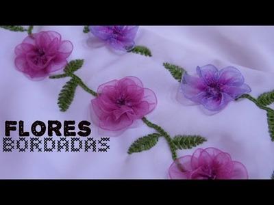 Flores bordadas con listón | Cómo hacer un vestido parte 2
