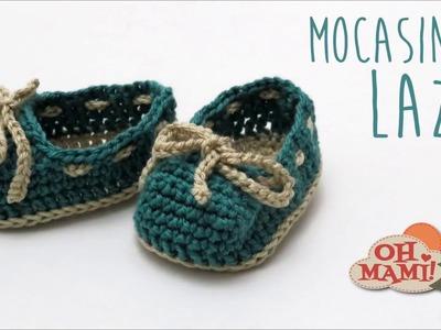 Mocasines para bebé a crochet (Mocasins Booties)