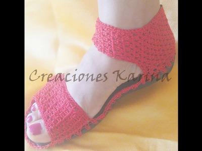 Sandalia tejida a crochet (paso a paso, bien explicado