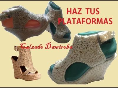 SANDALIAS DE PLATAFORMA PASO A PASO VIDEO 1