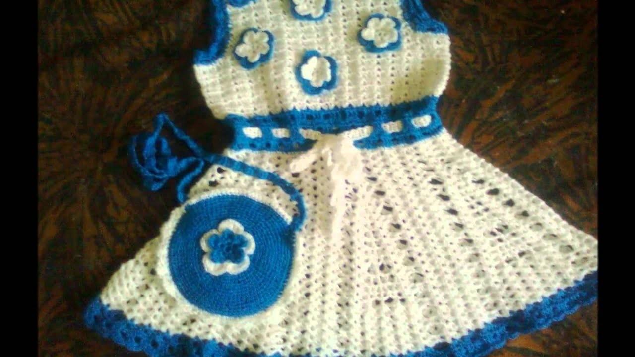 Vestido Niña Crochet Ruso