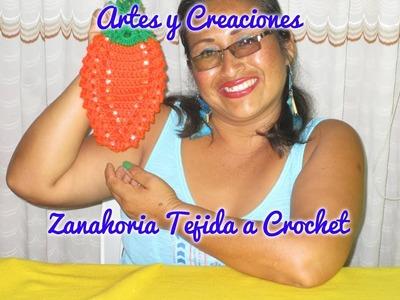 ZANAHORIA ADORNO DE COCINA TEJIDA A CROCHET