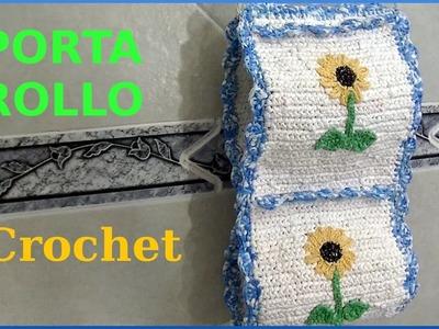 Porta Rollo a #crochet o ganchillo para papel higiénico tutorial paso a paso Moda a Crochet