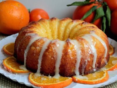 Bizcocho de naranja sin lactosa glaseado  ???????????????? | Orange sponge cake