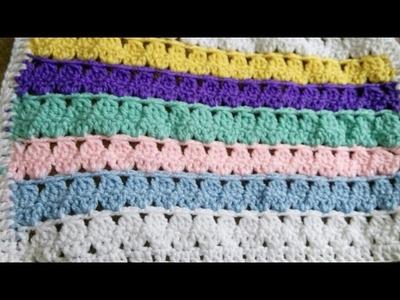 Cobija tejida a crochet para bebé  Muy fácil y bien explicado