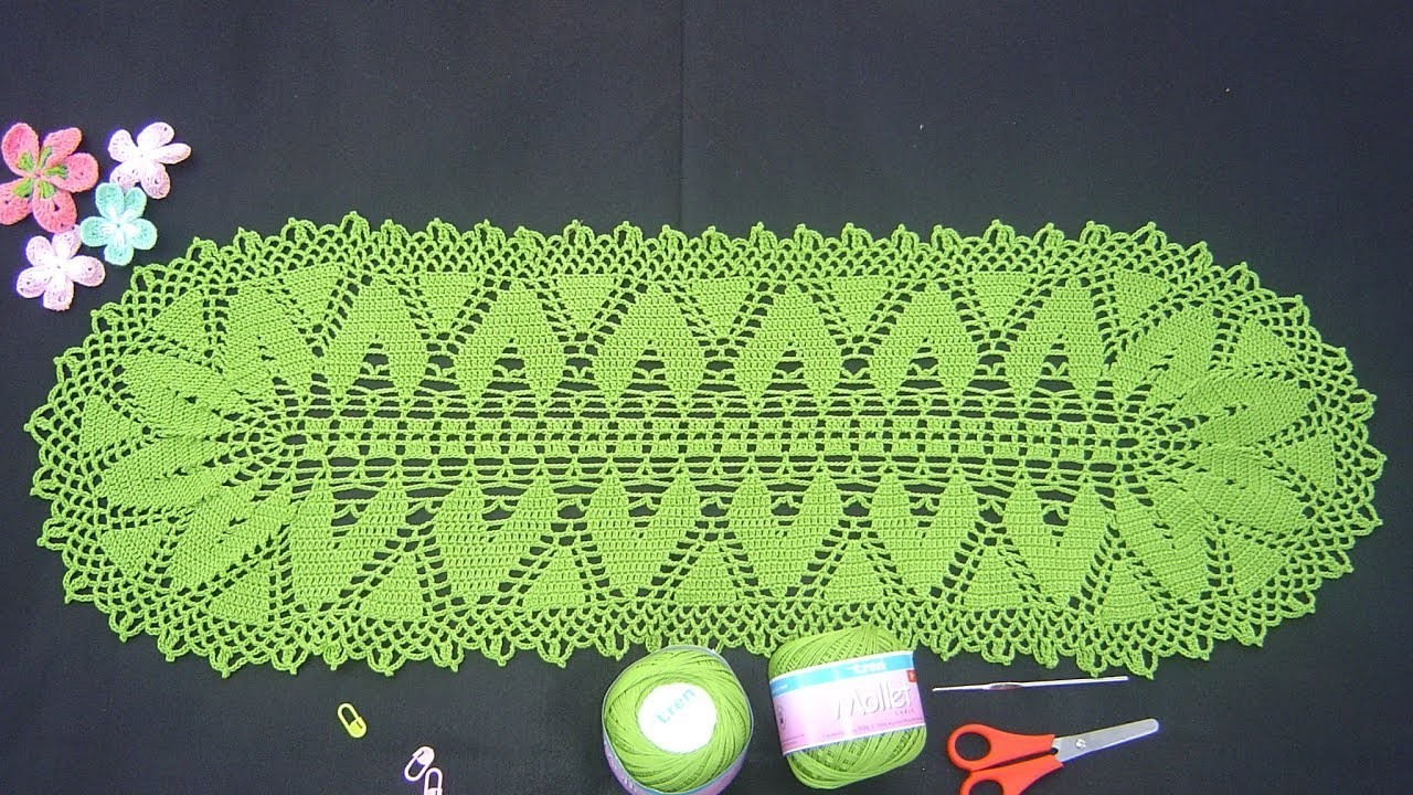 Como tejer carpeta ovalada tutorial paso a paso parte 2.3